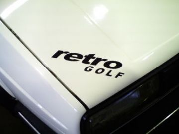 Retro Golf sticker / decal.  For Vw Golf mk2, G60,GTI,CL / Mk3 VR6 ,16v / Mk1 golf GTi / rabbit GTi